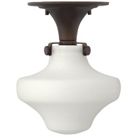Congress 1 Light 9 inch Oil Rubbed Bronze Foyer Flush Mount Ceiling Light in Incandescent, Retro Glass
