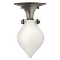 Hinkley Lighting Congress 1 Light Flush Mount in Antique Nickel with Etched Opal Glass 3145AN-LED