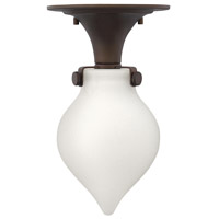 Hinkley Lighting Congress 1 Light Flush Mount in Oil Rubbed Bronze with Etched Opal Glass 3145OZ-LED