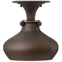 Hinkley 3148OZ Congress 1 Light 10 inch Oil Rubbed Bronze Foyer Flush Mount Ceiling Light, Retro Glass photo thumbnail