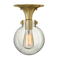 Hinkley Lighting Congress 1 Light Flush Mount in Brushed Caramel 3149BC