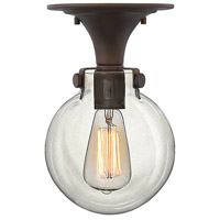 Hinkley 3149OZ Congress 1 Light 7 inch Oil Rubbed Bronze Foyer Flush Mount Ceiling Light, Retro Glass