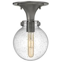 Hinkley 3149AN-CS Congress 1 Light 7 inch Antique Nickel Flush Mount Ceiling Light in Clear Seedy