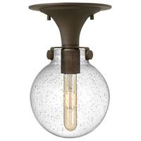 Hinkley 3149OZ-CS Congress 1 Light 7 inch Oil Rubbed Bronze Flush Mount Ceiling Light in Clear Seedy