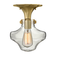 Hinkley Lighting Congress 1 Light Flush Mount in Brushed Caramel 3150BC