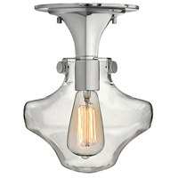 Hinkley 3150CM Congress 1 Light 9 inch Chrome Foyer Flush Mount Ceiling Light, Retro Glass