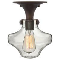 Hinkley 3150OZ Congress 1 Light 9 inch Oil Rubbed Bronze Foyer Light Ceiling Light Retro Glass