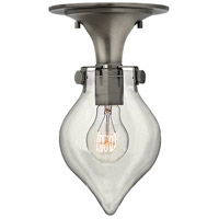 Hinkley 3151AN Congress 1 Light 6 inch Antique Nickel Flush Mount Ceiling Light, Retro Glass