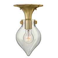 Hinkley 3151BC Congress 1 Light 6 inch Brushed Caramel Flush Mount Ceiling Light, Retro Glass