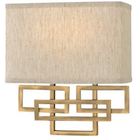 Lanza 2 Light 10 inch Brushed Bronze ADA Wall Sconce Wall Light