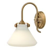 Hinkley 3170BC Congress 1 Light 8 inch Brushed Caramel Sconce Wall Light, Retro Glass  photo thumbnail