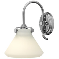 Hinkley 3170CM Congress 1 Light 8 inch Chrome Sconce Wall Light, Retro Glass