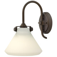 Hinkley 3170OZ Congress 1 Light 8 inch Oil Rubbed Bronze Sconce Wall Light, Retro Glass