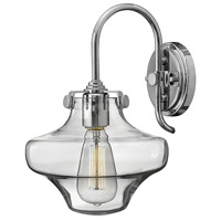 Hinkley 3171CM Congress 1 Light 9 inch Chrome Sconce Wall Light, Retro Glass