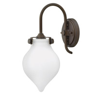 Hinkley 3172OZ Congress 1 Light 6 inch Oil Rubbed Bronze Sconce Wall Light, Retro Glass