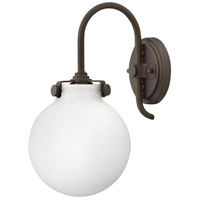 Hinkley 3173OZ Congress 1 Light 7 inch Oil Rubbed Bronze Sconce Wall Light, Retro Glass