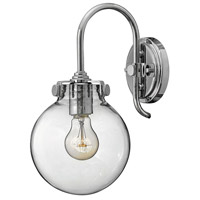 Congress 1 Light 7 inch Chrome Sconce Wall Light, Retro Glass