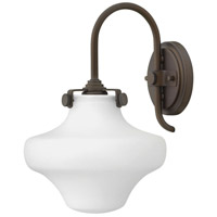 Hinkley 3175OZ Congress 1 Light 9 inch Oil Rubbed Bronze Sconce Wall Light, Retro Glass