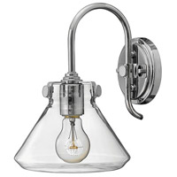 Hinkley 3176CM Congress 1 Light 8 inch Chrome Sconce Wall Light, Retro Glass