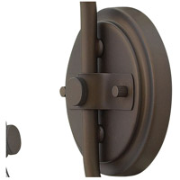 Hinkley 3176OZ Congress 1 Light 8 inch Oil Rubbed Bronze Sconce Wall Light, Retro Glass alternative photo thumbnail