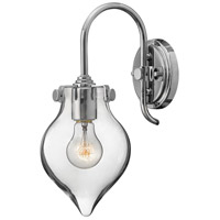 Congress 1 Light 6 inch Chrome Sconce Wall Light, Retro Glass