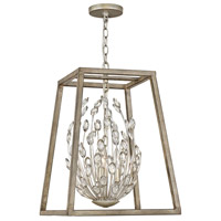 Loren 2 Light 16 inch Silver Leaf with Weathered Ash Accents Chandelier Ceiling Light