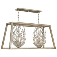 Hinkley 3188SL Loren 6 Light 38 inch Silver Leaf with Weathered Ash Accents Chandelier Ceiling Light Open Frame