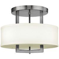 Hinkley 3200AN-LED Hampton LED 15 inch Antique Nickel Foyer Semi-Flush Mount Ceiling Light