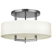 Hinkley 3201AN-LED Hampton LED 20 inch Antique Nickel Foyer Semi-Flush Mount Ceiling Light