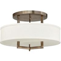 Hinkley 3201BR-LED Hampton LED 20 inch Brushed Bronze Foyer Semi-Flush Mount Ceiling Light