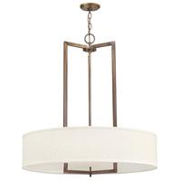 Hinkley 3206BR-LED Hampton LED 30 inch Brushed Bronze Chandelier Ceiling Light
