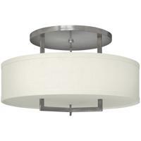 Hinkley 3211AN-LED Hampton LED 26 inch Antique Nickel Foyer Semi-Flush Mount Ceiling Light