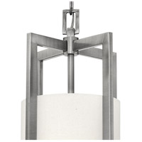 Hinkley 3217AN Hampton 1 Light 9 inch Antique Nickel Mini-Pendant Ceiling Light in Incandescent, Off-White Linen Drum Shade alternative photo thumbnail