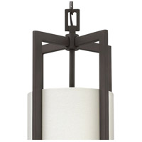 Hinkley 3217KZ Hampton 1 Light 9 inch Buckeye Bronze Mini-Pendant Ceiling Light in Incandescent, Off-White Linen Hardback Shade alternative photo thumbnail