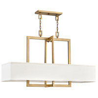 Hampton 4 Light 42 inch Brushed Bronze Chandelier Ceiling Light