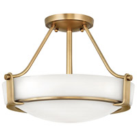 Hathaway 3 Light 16 inch Heritage Brass Foyer Semi-Flush Mount Ceiling Light