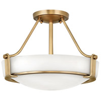 Hinkley 3220HB-LED Hathaway LED 16 inch Heritage Brass Semi-Flush Mount Ceiling Light in Etched