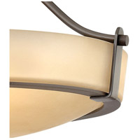 Hinkley 3220OB Hathaway 3 Light 16 inch Olde Bronze Foyer Semi-Flush Mount Ceiling Light in Amber Etched, Incandescent alternative photo thumbnail
