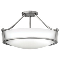 Hathaway LED 21 inch Antique Nickel Foyer Semi-Flush Mount Ceiling Light in Etched