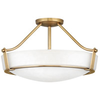 Hathaway 4 Light 21 inch Heritage Brass Foyer Semi-Flush Mount Ceiling Light