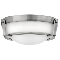 Hathaway 2 Light 13 inch Antique Nickel Foyer Flush Mount Ceiling Light in Incandescent, Etched