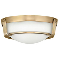 Hathaway 2 Light 13 inch Heritage Brass Foyer Flush Mount Ceiling Light