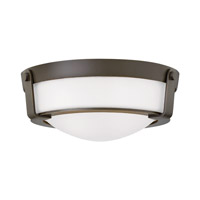 Hinkley 3223OB-WH-GU24 Hathaway 2 Light 13 inch Olde Bronze Flush Mount Ceiling Light in Etched, GU24, Etched Glass
