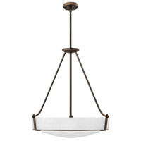 Hinkley 3224OB-WH Hathaway 5 Light 27 inch Olde Bronze Foyer Light Ceiling Light in Etched, Incandescent, Etched Glass