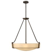 Hinkley 3224OB-GU24 Hathaway 5 Light 27 inch Olde Bronze Foyer Ceiling Light in Etched Amber, GU24, Etched Amber Glass