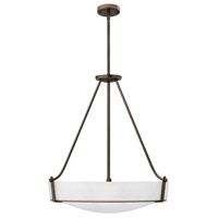 Hinkley 3224OB-WH-GU24 Hathaway 5 Light 27 inch Olde Bronze Foyer Ceiling Light in Etched, GU24, Etched Glass