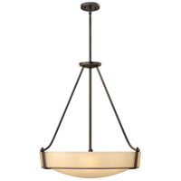 Hinkley 3224OB Hathaway 5 Light 27 inch Olde Bronze Foyer Light Ceiling Light in Amber Etched, Incandescent alternative photo thumbnail