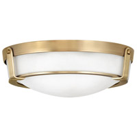 Hathaway 3 Light 16 inch Heritage Brass Foyer Flush Mount Ceiling Light
