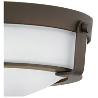 Hinkley 3225OB-WH-LED Hathaway LED 16 inch Olde Bronze Foyer Flush Mount Ceiling Light in Etched, Etched Glass alternative photo thumbnail