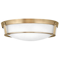 Hathaway 4 Light 21 inch Heritage Brass Foyer Flush Mount Ceiling Light